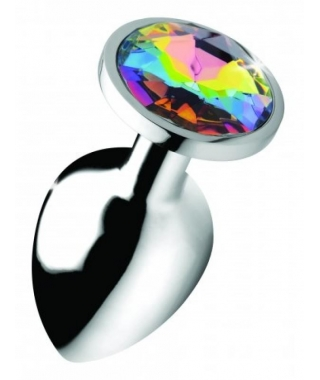 Rainbow Gem Butt Plug - Groß